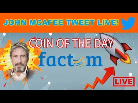 JOHN MCAFEE COIN OF DAY! TWEET LIVE! - PRICE AND CHARTS!