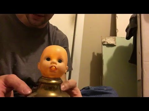 Exceptional Creepy Baby Doll Head Lamp With Flickering Led