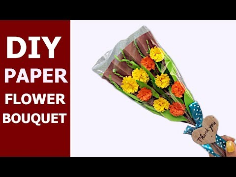 #paper #flower #bouquet  PAPER BOUQUET | DIY | Paper Craft |  Aloha Crafts