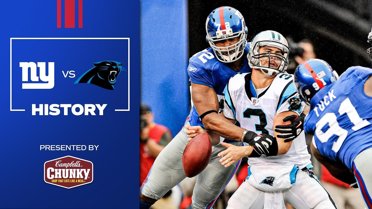 2021 Schedule Preview: Giants vs. Panthers History | New York Giants