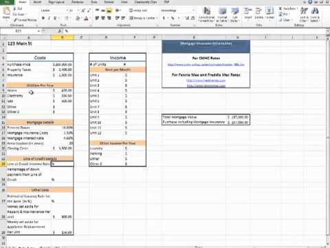 Rental Property Calculator Spreadsheet - YouTube