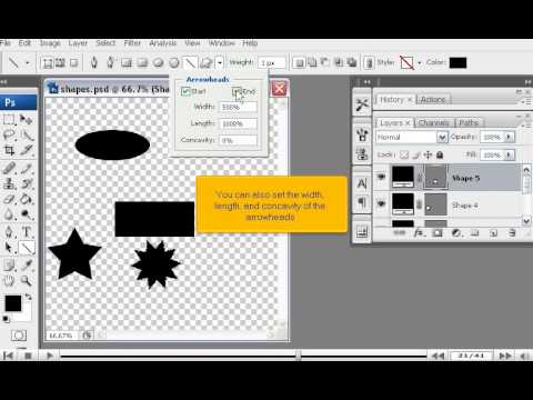 How To Add Shapes Using The Shape Tools In Photoshop Adobe Photoshop Tutorials Youtube