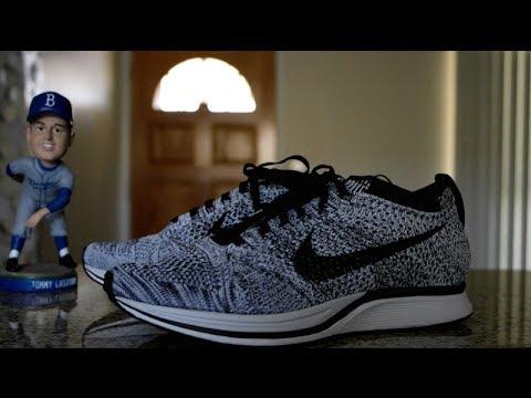 5e780d85f37e Nike Flyknit Racer Oreo Review   On Feet - YouTube