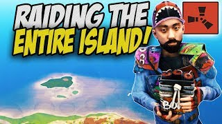 Raiding Every Base on a Sulfur Rich Island! - Rust Solo Survival Gameplay