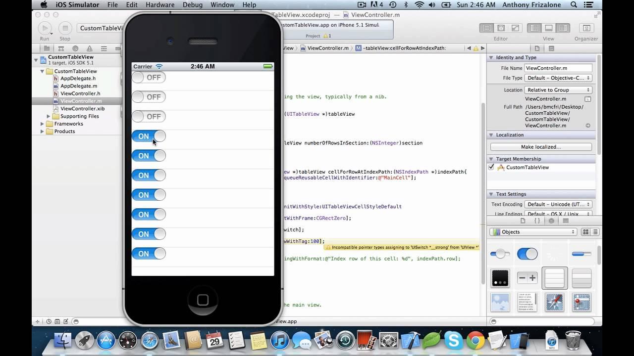 Ios programming tutorial: create a simple table app using uitableview.