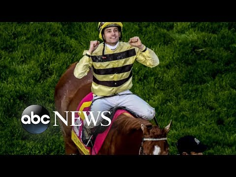 Kentucky Derby champion jockey reacts to controversial win