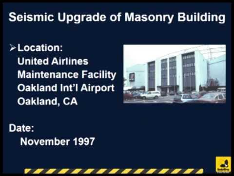 Seismic Upgrade of Unreinforced Masonry Wall in Oakland Airport with Glass FRP