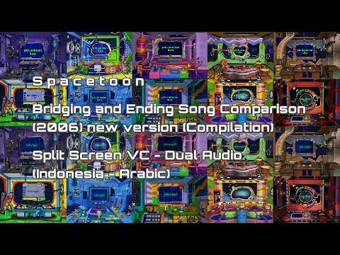 Compilation Ending Song Planet Comparison 2006 New Version - Spacetoon (Indonesia & Arabic Version)