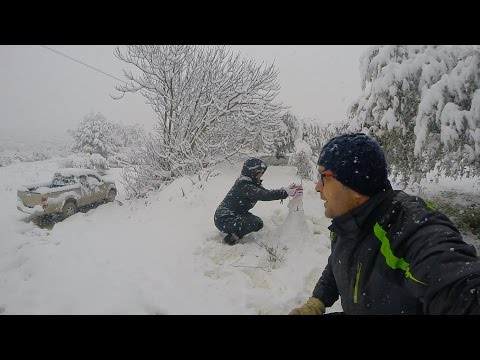 Snow Heraklion (Crete Greece) 2017