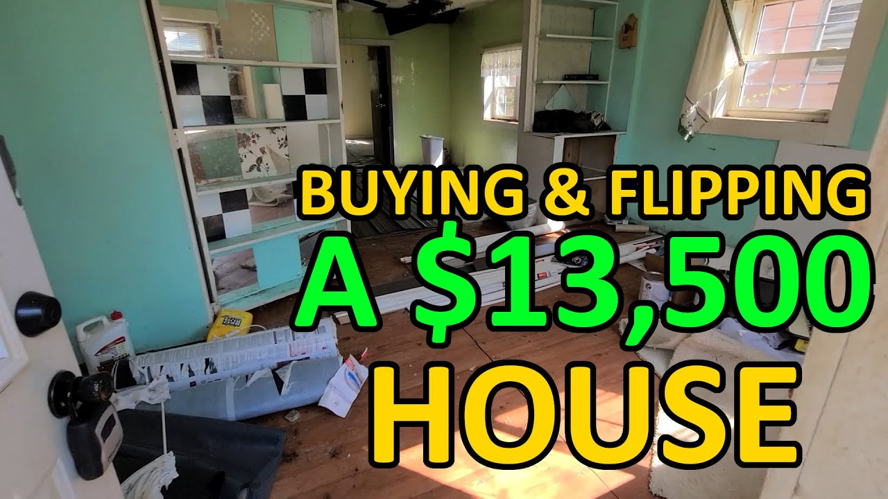 Can We FLIP A $13,500 House Before The CRASH?