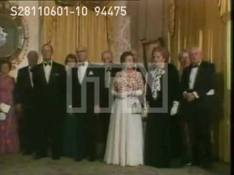 Royal photocall with Edward Heath,Thatcher, Douglas-Home, Callaghan, Wilson, and MacMillian 1985