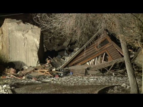 Massive boulders in Utah hit home, killing two