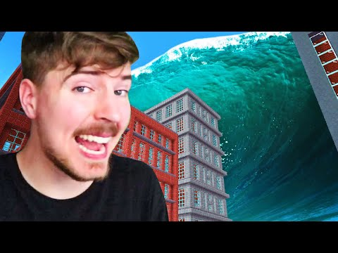 Can You Survive The Massive Tsunami? - MrBeast Gaming