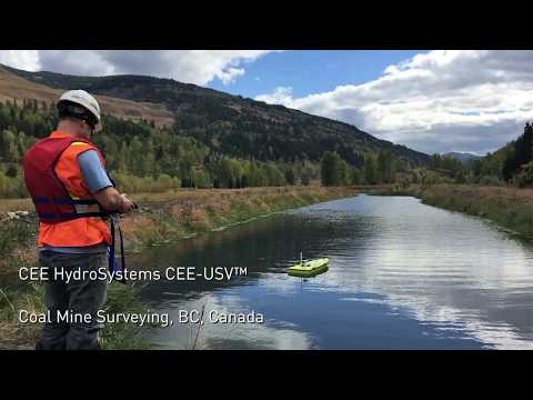 CEE-USV Coal Mine Surveys in BC Canada -  Unmanned Drone Remote Boat Tailings Bathymetry