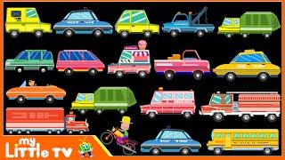 Learning Street Vehicles Names | Cars & Trucks | Police Car | My Little TV