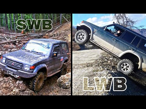 OFF ROAD - SWB VS LWB PAJERO 3500v6