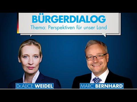 Alice Weidel und Marc Bernhard aus Villingen-Schwenningen am 05.09.20