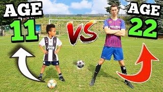 Download lagu 11 YEAR OLD VS 22 YEAR OLD EPIC PENALTY SHOOTOUT CHALLENGE MP3