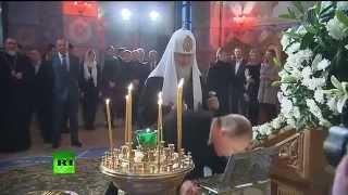 Владимир Путин посетил храм преподобного Сергия Радонежского в Царском Селе