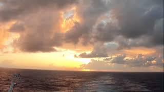 Time Lapse Sunset on Disney Cruise