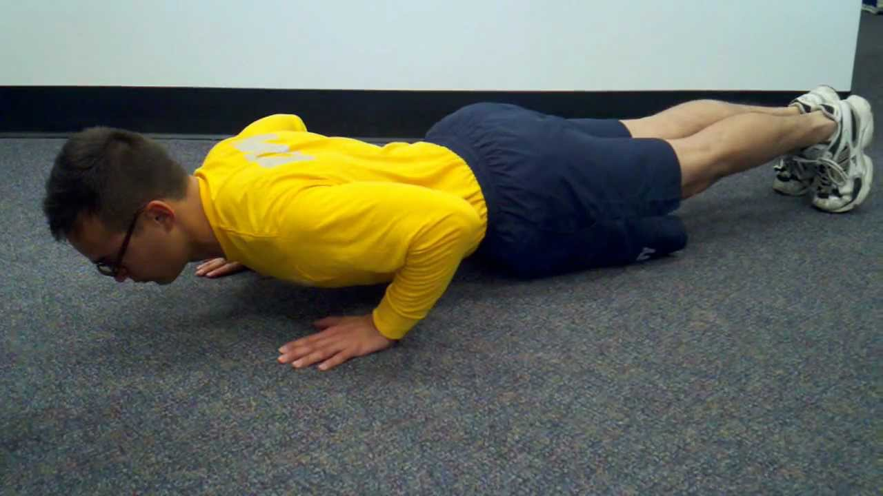 Proper Form for Navy Pushups and Curl-ups - YouTube