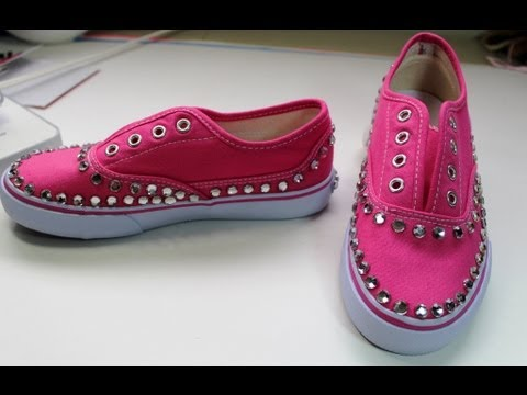 How to bling out your sneakers with rhinestones - Back to School ... 1eb943cee8