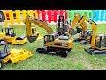 [30분] 중장비 자동차 장난감 포크레인 덤프트럭 블럭놀이 Car Toy with Excavator Truck Play