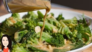 Broccoli Salad With Orange Tahini Dressing - Vegan Recipe!