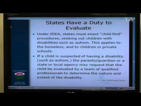 The Legal Rights of Children with Autism and Related Disorders