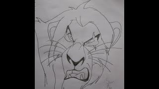 The Lion King | Drawing Scar