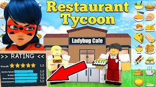 5 star RESTAURANT with ROBLOX Ladybug 🐞 🐞 MAKE Roblox Restaurant Tycoon Turkish 🐞 2018