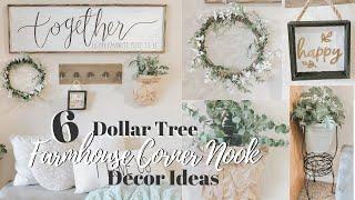 DIY DOLLAR TREE FARMHOUSE CORNER NOOK DECOR AND UPCYCLES