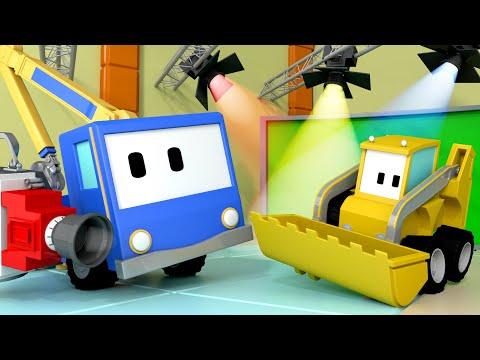 Le Studio de cinéma - Apprendre avec Tiny trucks 👶 🚚 Dessin animé grue éducatif pour enfants