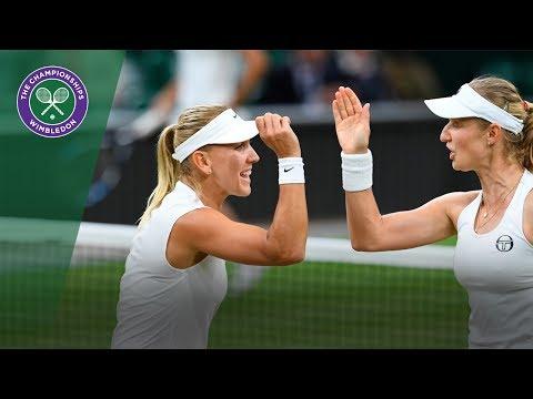 Makarova/Vesnina v Chan/Niculescu highlights - Wimbledon 2017 ladies' doubles final