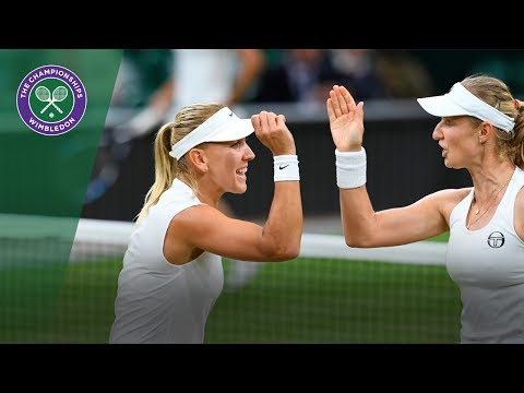 Makarova/Vesnina v Chan/Niculescu highlights - Wimbledon 2017 ladies' doubles final