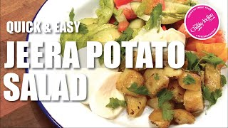 Like Potato Salad ? You gotta try our Jeera Potato & Simple Salad for Light Lunch or Brunch 😻