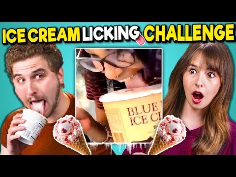 College Kids React To Ice Cream Licker Challenge (DISGUSTING)