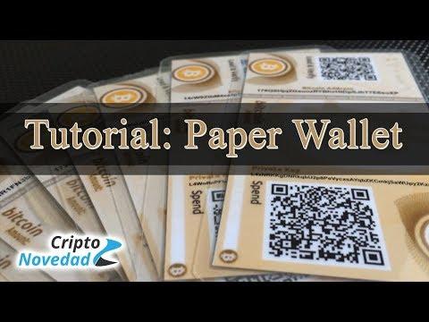 Cómo Crear Y Usar Una Paper Wallet - Tutorial