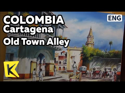 【K】Colombia Travel-Cartagena[콜롬비아 여행-카르타헤나]구시가지 골목/Old Town Alley/Gallery/Jewelry Shop