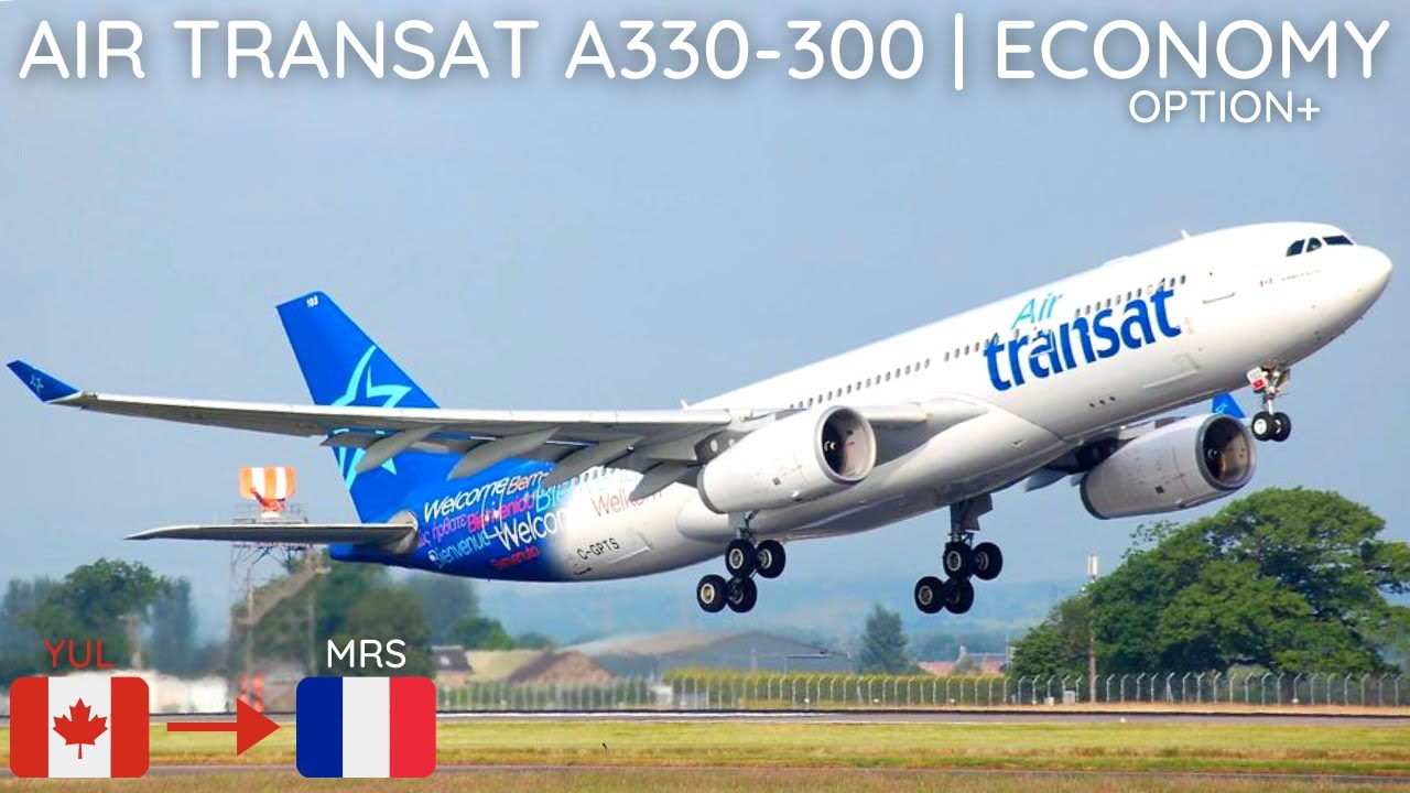 trip report air transat a330 300 montreal yul to marseille mrs economy option youtube. Black Bedroom Furniture Sets. Home Design Ideas