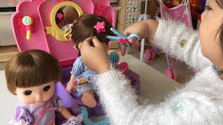 レミン&ソラン ラプンツェル びようしつのおもちゃで美容室ごっこ Remin & Solan Rapunzel Salon Toys Pretend Play