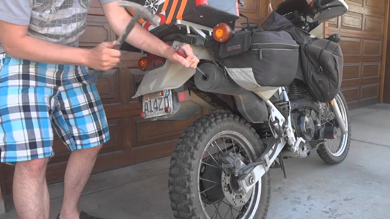 O O How To Make Your Stock Klr 650 Exhaust Sound Manly For