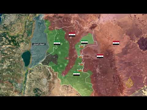 محاور العملية العسكرية للنظام السوري جنوب درعا  - نشر قبل 2 ساعة