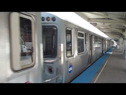 "CTA ""L"" Trains: Blue Line Train at UIC-Halsted"