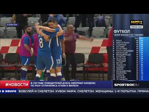 """""""Матч!ТВ"""". 30.01.2020 - 07:00 - Новости спорта. Россия - Азербайджан - 3-4"""