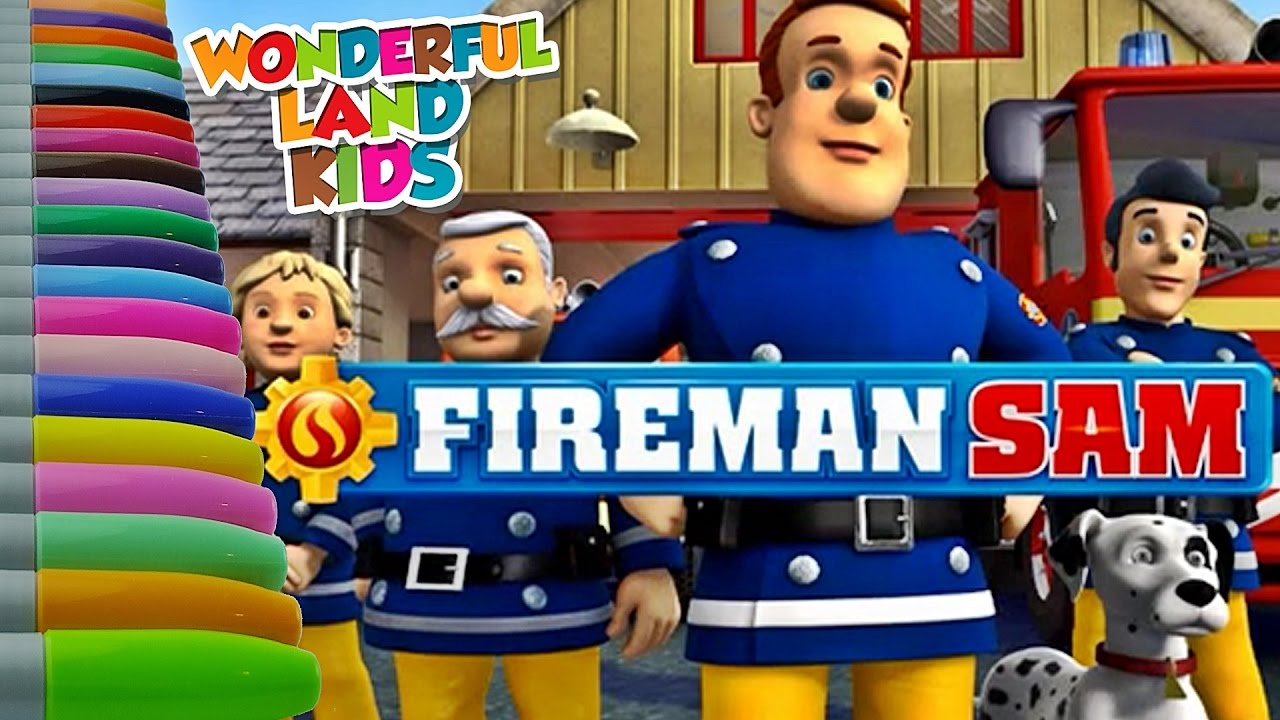 coloring pages for kids fireman sam coloring pages educational tutorial videos for children