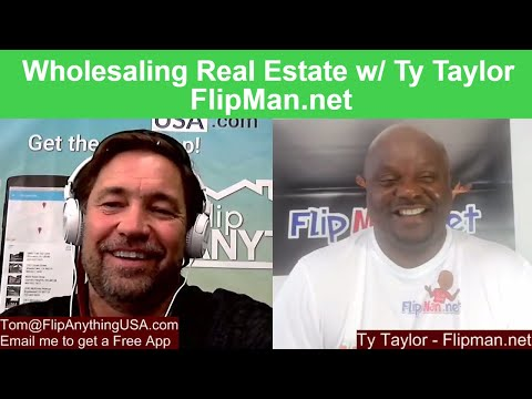 How to wholesale real estate with no money.  Interview Flipman Ty Wholesaling Expert. Free App.