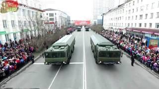 Парад 9 мая 2016 Мурманск(Военный парад в Мурманске на День Победы., 2016-05-09T12:11:28.000Z)