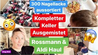 Rossmann & Aldi Haul l Keller ausmisten & packen l Nagellacke aussortieren l Kino Date l Vlog 922