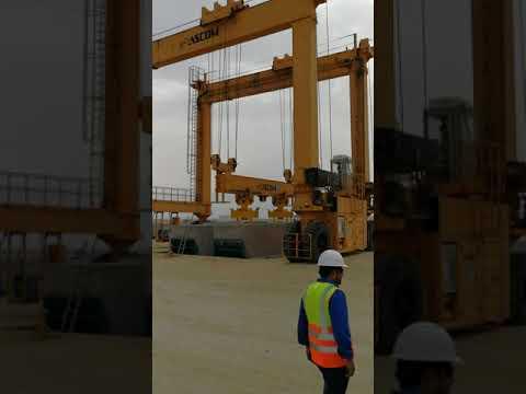 Qwall blocks lifting with Ascom crane Efi. Archirodon Ras Al Khair
